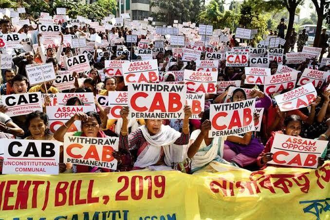 कैब  के विरोध में अभी भी कई राज्यों में धरना प्रदर्शन