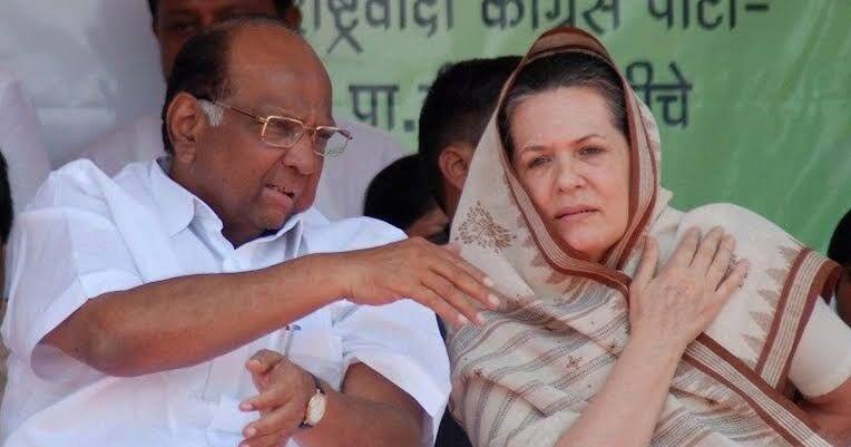 राकपा प्रमुख शरद पवार ने सोनिया गांधी से की मुलाकात