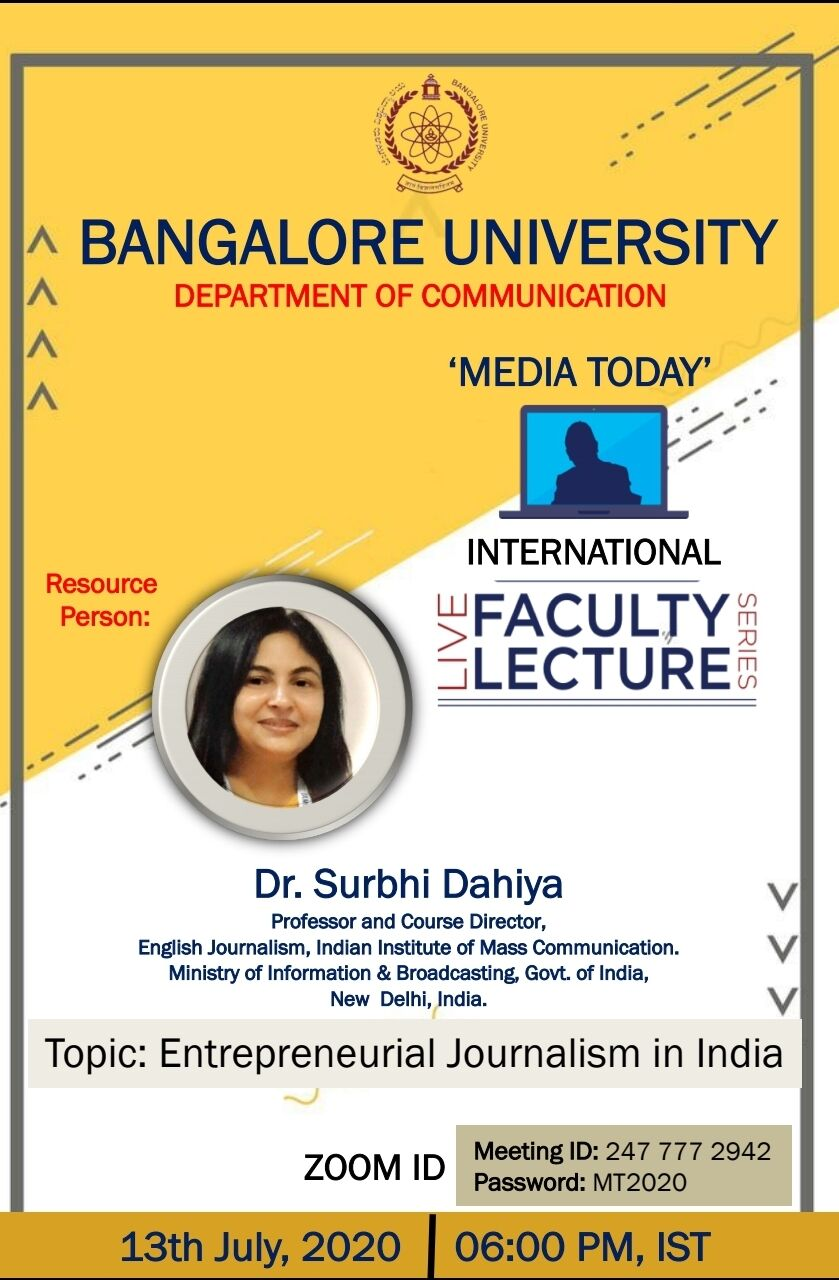 Media Today International Live Lecture Series - 2020
