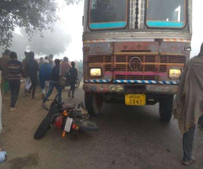 ट्रक की टक्कर से 2 भाइयों की मौत, एक घायल