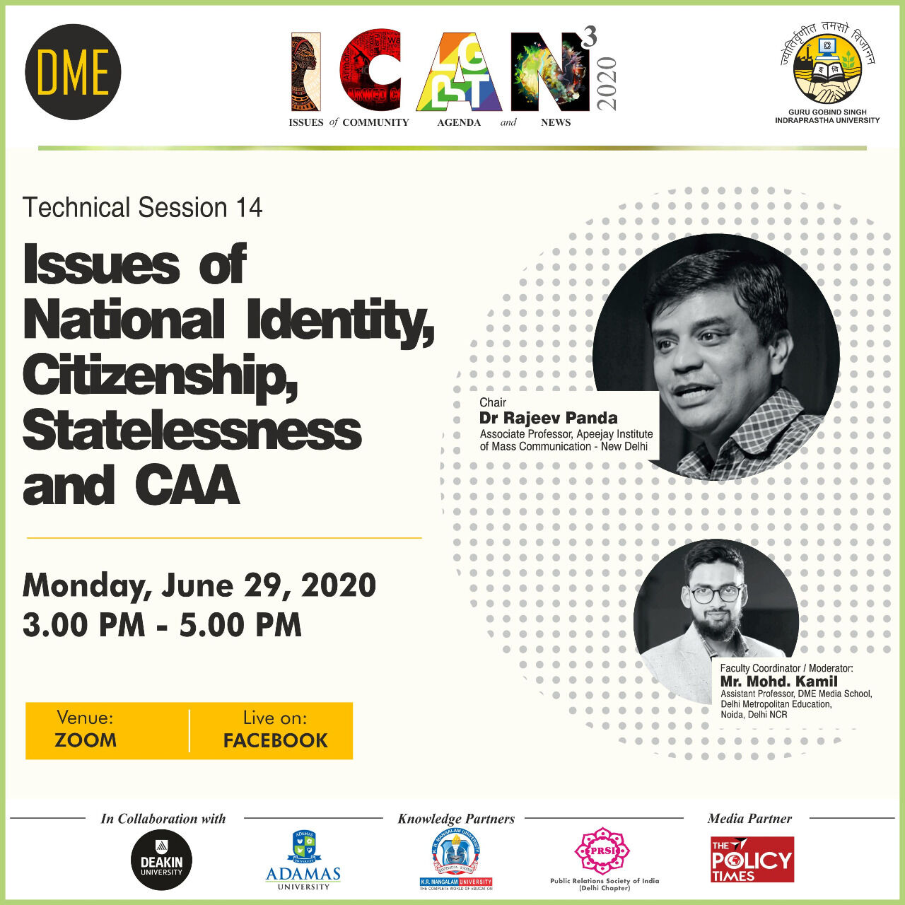 Issues of National Identity, Citizenship, Statelessness and CAA