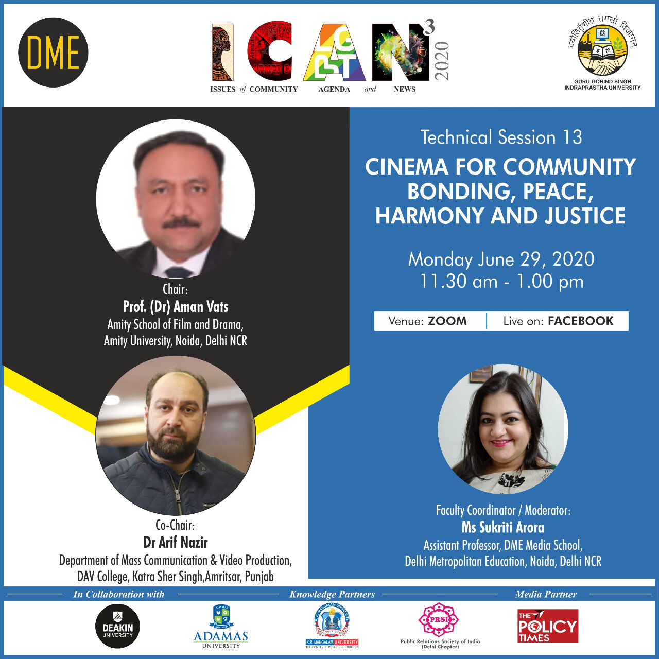 Cinema for community bonding, peace, harmony and justice