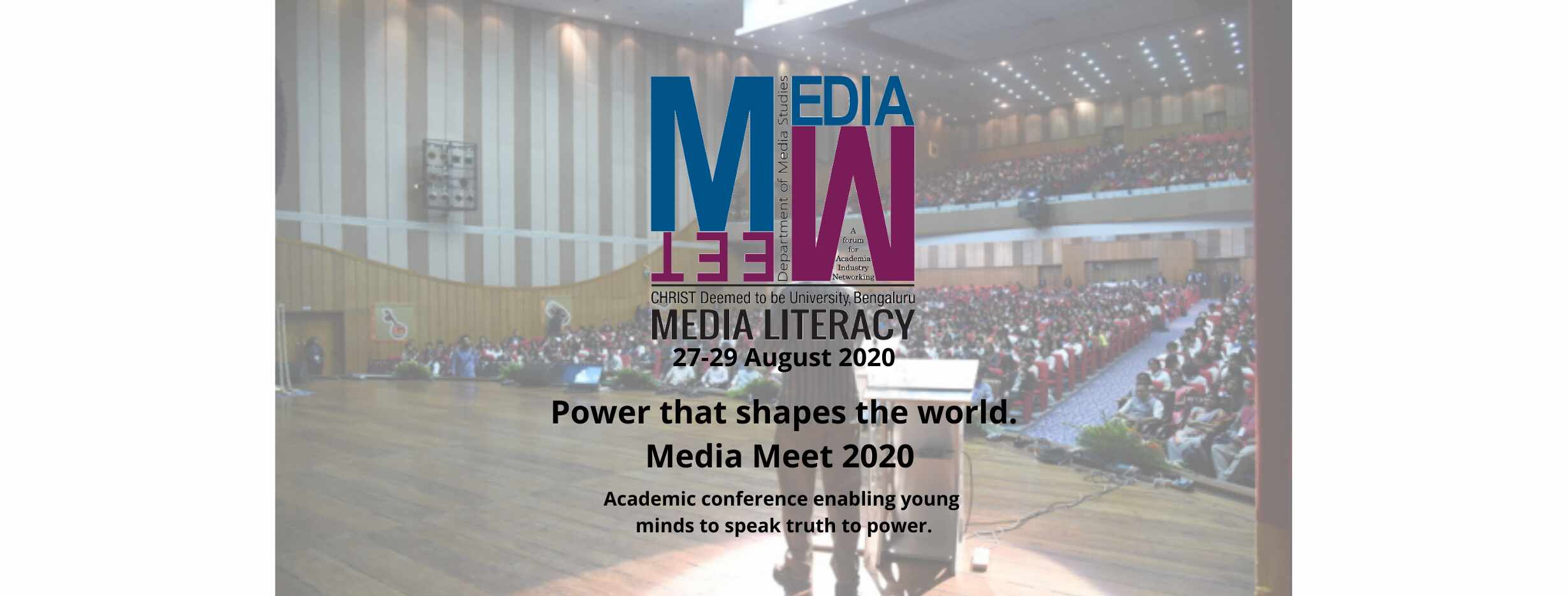 Call for Papers for Media Meet 2020
