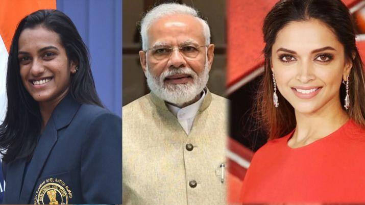 दीपिका पादुकोण और पी वी सिंधु खड़ी हुई #BharatKiLaxmi अभियान में पीएम नरेंद्र मोदी के साथ......