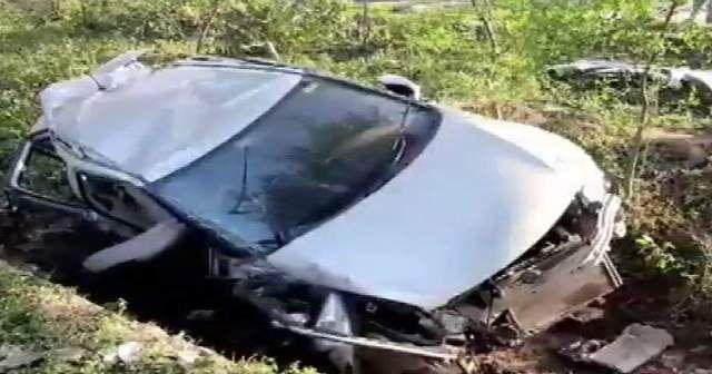 कार में सवार चार हॉकी खिलाड़ियों की मौत