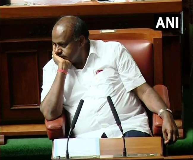 कर्नाटक में गिरी  कुमारस्वामी की सरकार