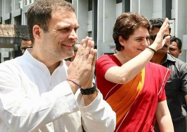 अमेठी से राहुल गांधी ने  नामांकन पत्र दाखिल किया, राहुल और प्रियंका को देखने उमड़ी  भीड़
